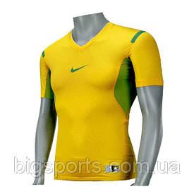 Футболка компрессионная муж. Nike 'Pro V-Neck Compression Brasil' (арт. 381334-703)