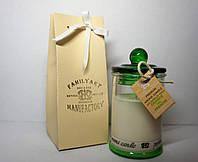 арома свеча подарочная ПРЕМИУМ с ароматом Chanel Chance Eau Fraiche 110гр Д=6см Н=11см