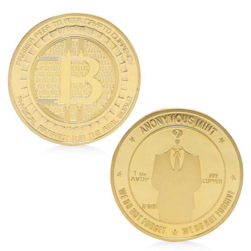 Купить Биткоин Bitcoin сувенирный позолота