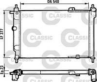 Радиатор охлаждения OPEL (пр-во VALEO) 231551