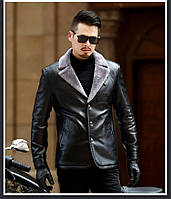 Куртка кожаная зимняя, дубленка на овчине. Натуральная кожа.