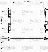 Радиатор охлаждения NISSAN QASHQAI (J10) (07-) 1.6 (пр-во VALEO) 735119