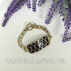 Оригинальный браслет с оверсайз-элементами (позолота, имитация эмали)  BG4708
