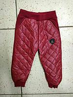 Детский теплые штаны для девочки 92-110