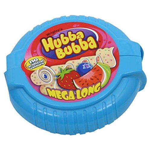 Жевательная резинка Hubba Bubba (клубника, черника, арбуз) в ленте, 56 г.