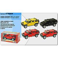 "Машина металлическая ""Kinsmart"", арт KT7006W ""Hummer H2 SUV 2008"""