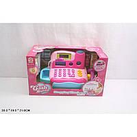 Игрушка Кассовый аппарат LF9815A/B розов сканер, калькулятор, продукты, в кор. 38*19*21см