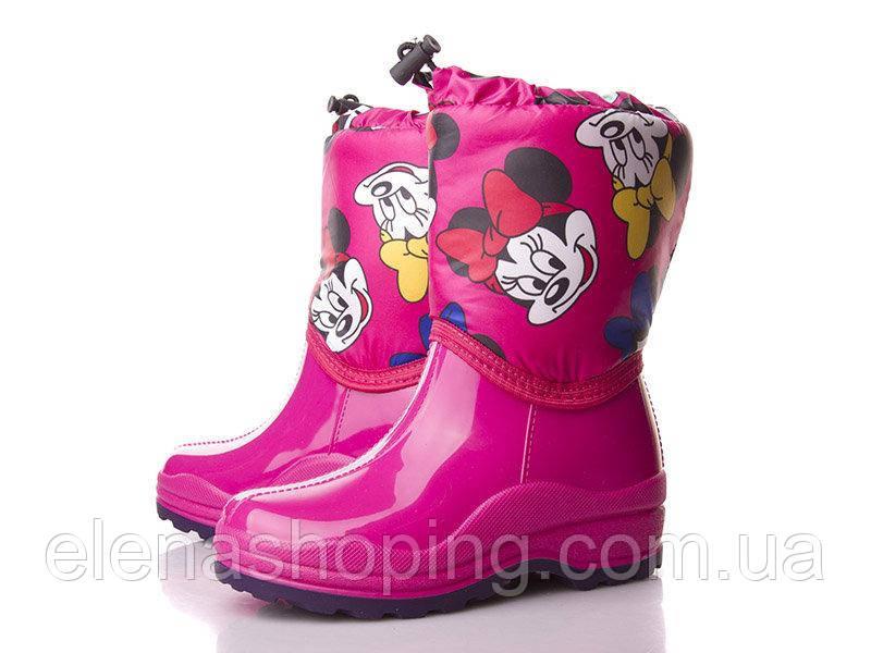Резиновые стильные сапоги для девочки р28-29 (код 4918-00)