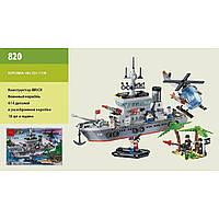 """Конструктор """"Brick"""" 820 """"Военный корабль"""" 614 дет., 6+ лет, в собр. кор. 48*7*32см"""
