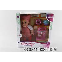 Кукла 10599 в костюме повара, миксер,пирожные,в кор.33*11*35