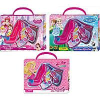 """Косметика """"Barbie""""Frozen""""Princess"""" V79666H/H1/H2 3в,2яруса,помады,тени,лак,кисточка,в кор"""
