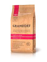 """Сухой низкозерновой корм """"Grandorf ягненок с рисом"""" 26/15 (для взрослых собак средних пород) 1 кг"""