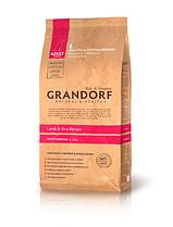 """Сухой низкозерновой корм """"Grandorf ягненок с рисом"""" 26/15 (для взрослых собак средних пород) 12 кг"""