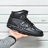 """Мужские зимние кроссовки Nike Lunar Military """"Black""""  р. 43(27,5) реплика"""