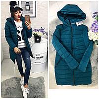 Куртка зима, модель  212, синий аква