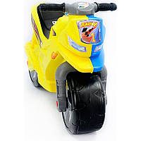 Мотоцикл 2-х колесный, арт. 501_ЖГ, желто-голубой