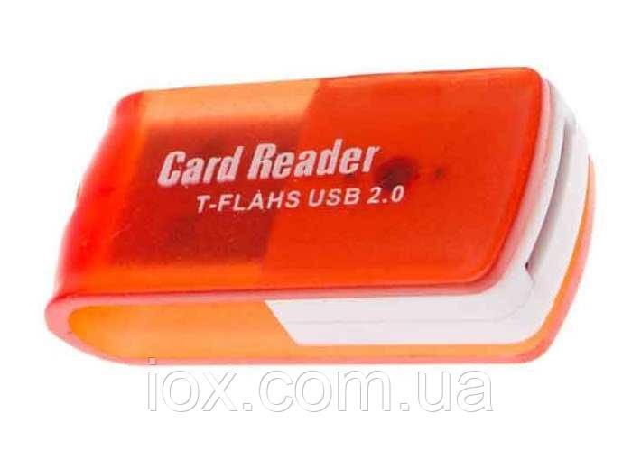 Картридер USB microSD S-104 Красный