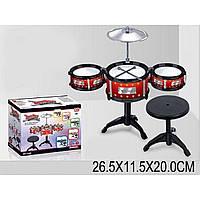 Ударная установка 6268 3 барабана,тарелки,стульчик