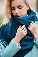 Шарф женский акриловый синий