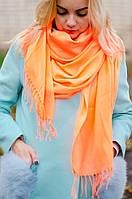 Шарф женский акриловый оранжевый