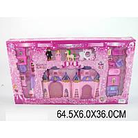 Домик CB688-18 св/муз,принц,принцесса,конь,карета,15 деталей мебели,кор.64,5*6*36см