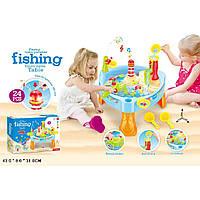 Рыбалка-столик 889-68 с водопадом, муз., свет.,  43*8*31см, фото 1