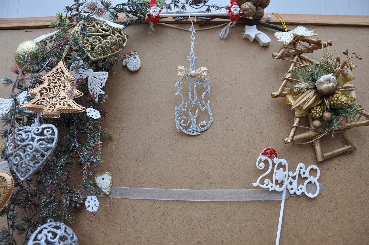 Новогоднее украшение Скрипка