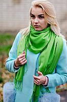 Шарф женский акриловый зеленый