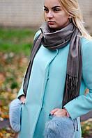 Шарф женский акриловый серый