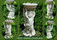 Скульптура Ангел чаша №1 (белый мрамор)