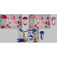 Доктор 5010-1 3 вида,стетоскоп,градусник,пинцет,ножницы,очки,молоточек...в шприце