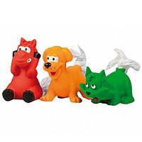 Karlie-Flamingo Toys КАРЛИ-ФЛАМИНГО игрушки для собак, жеребенок, щенок, котенок, хвост из каната, латекс , 8 см см.
