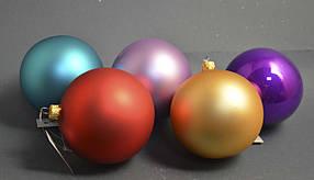 Стеклянный шар на елку Однотонный