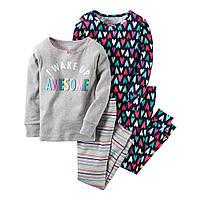 Пижама для девочки Carters 'Сердечка' 3-4 года