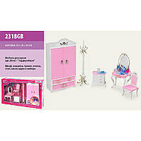 "Мебель ""Gloria"" 2318GB для спальни,шкаф,туалет.столик,стул,комод,аксес.,в кор. 54*10*34см"