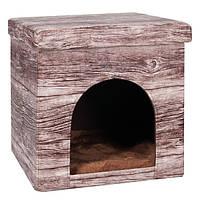 Karlie-Flamingo CHALET HOUSE КАРЛИ-ФЛАМИНГО ШАЛЕ ХАУЗ домик для котов и собак, ткань , 38х38х37 см см.