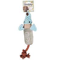 Karlie-Flamingo Shabby Chic Rat КАРЛИ-ФЛАМИНГО ШЕБИ ШИК КРЫСА игрушка для собак, c канатом и пищалкой , 40 см см.