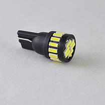 LED лампа в габарит SLS LED, цоколь W5W(T10) 21 светодиод типа 4014 12 В. Белый, фото 2