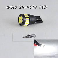LED лампа в габарит SLS LED, цоколь W5W(T10) 21 светодиод типа 4014 12 В. Белый