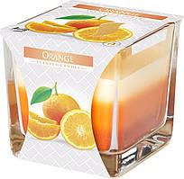 """Арома свеча в стекле трехцветная """"Апельсин"""""""