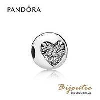 Шарм-клипса СЕРДЦЕ ЗИМЫ Pandora 796388CZ серебро 925 Пандора оригинал