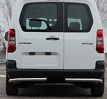 Защита заднего бампера Углы на Peugeot Partner (c 2008---)