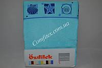 Махровая простынь Ozdilek Shell Azure Хлопок (200x220) - Турция 1574