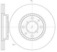 Диск тормозной SUZUKI SWIFT III 1.3 1.5 05- передн. (пр-во REMSA) 61002.10