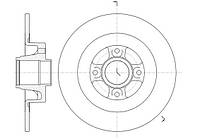Диск тормозной RENAULT MEGANE II SW SCENIC II 03- задн. (пр-во REMSA) 61047.00