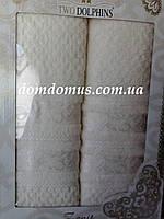 Подарочный набор полотенец (банное+лицевое) TWO DOLPHINS 0612