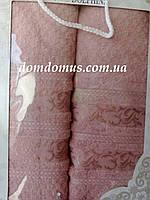 Подарочный набор полотенец (банное+лицевое) TWO DOLPHINS 0613