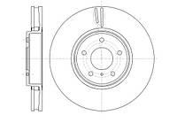 Диск тормозной NFINITI FX35,FX45 3.5I,4.5I 24V 03.01- передн. (пр-во REMSA) 61244.10