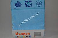 Махровая простынь Ozdilek Shell Blue Хлопок (200x220) - Турция 1594