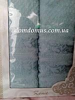Подарочный набор полотенец (банное+лицевое) TWO DOLPHINS 0615